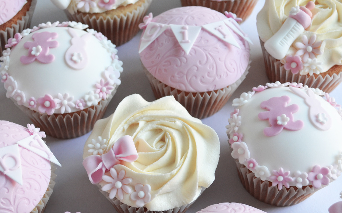 Girl Baby Shower Cupcakes  Pink Baby Shower Cakes & cupcakes cake maker Liverpool