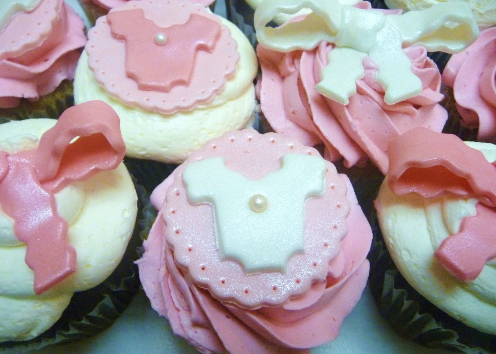 Girl Baby Shower Cupcakes  Pure Delights Baking Co Baby Girl Shower Cupcakes