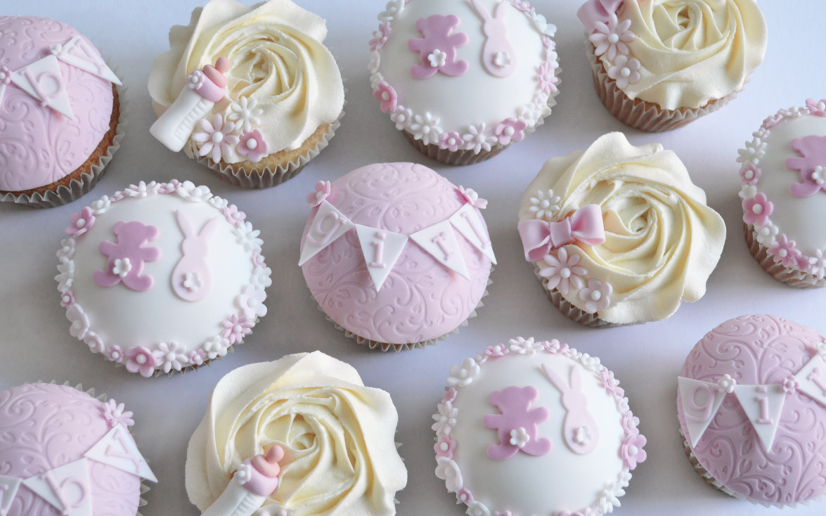 Girl Baby Shower Cupcakes  Girls Baby Shower Cupcakes cake maker Liverpool cake shop