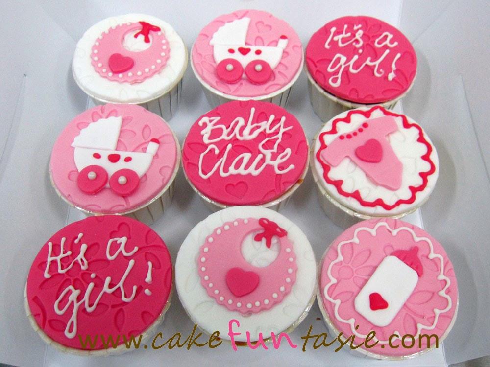 Girl Baby Shower Cupcakes  Cake Funtasie January 2014