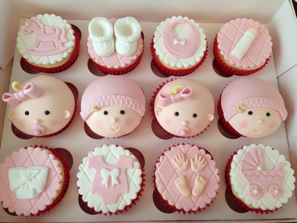 Girl Baby Shower Cupcakes  Christening Baby Shower and Gender Reveal Cakes