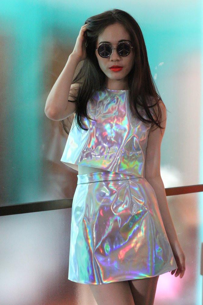 Glitters For Dinner  Glitters For Dinner — Made To Order Holographic Mini Skirt