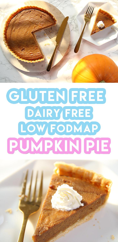 Gluten Free And Dairy Free Recipes  Gluten Free Pumpkin Pie Recipe dairy free and low FODMAP
