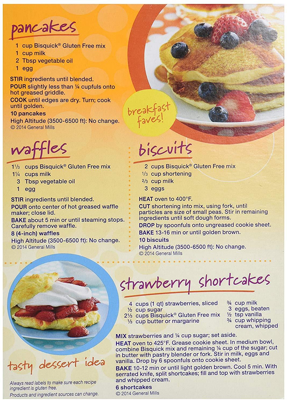 Gluten Free Bisquick Recipes  pancake bisquick no egg