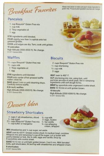Gluten Free Bisquick Recipes  Bisquick Pancake and Baking Mix Gluten Free 16 oz Boxes