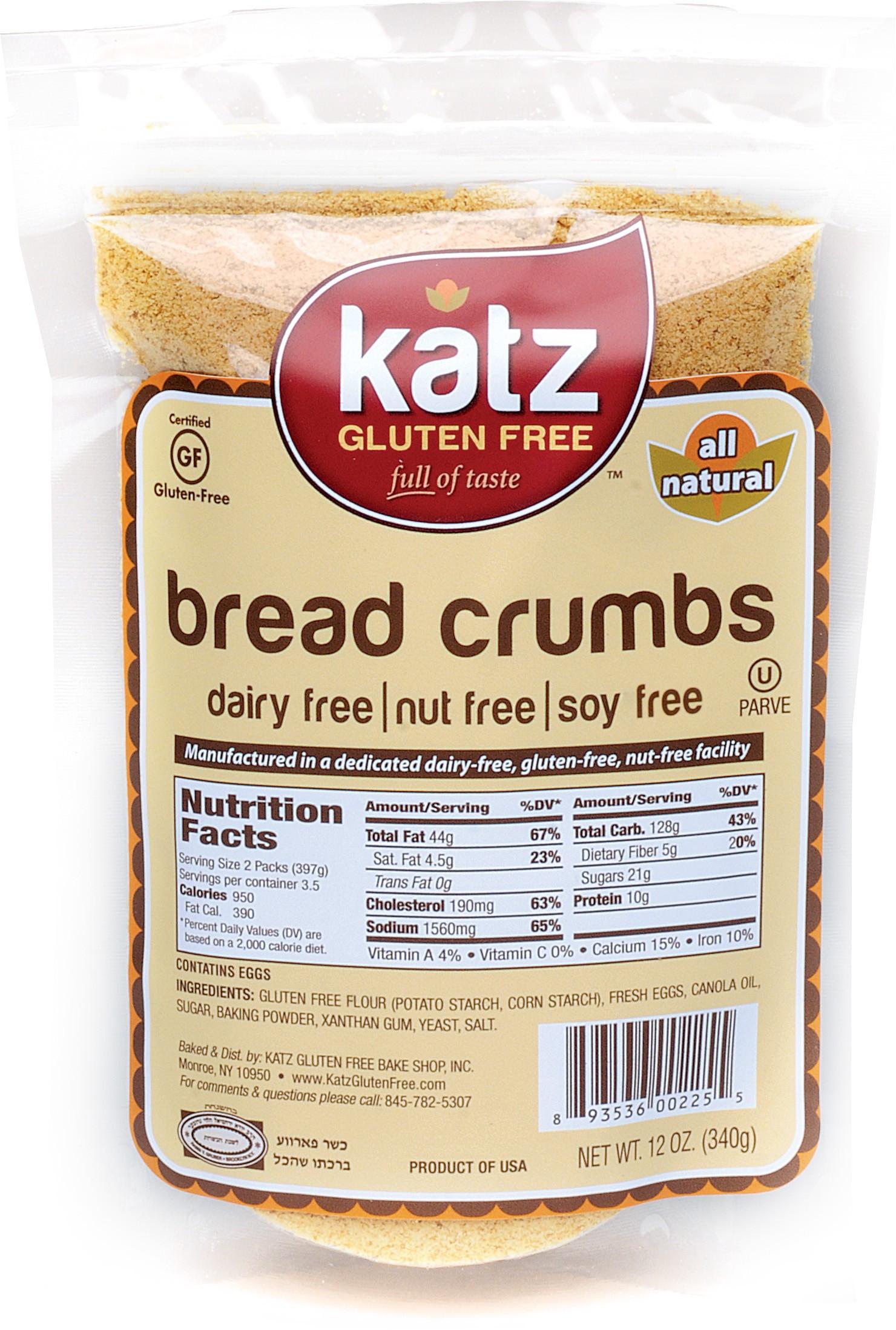 Gluten Free Bread Crumbs  Katz Gluten Free Bread Crumbs