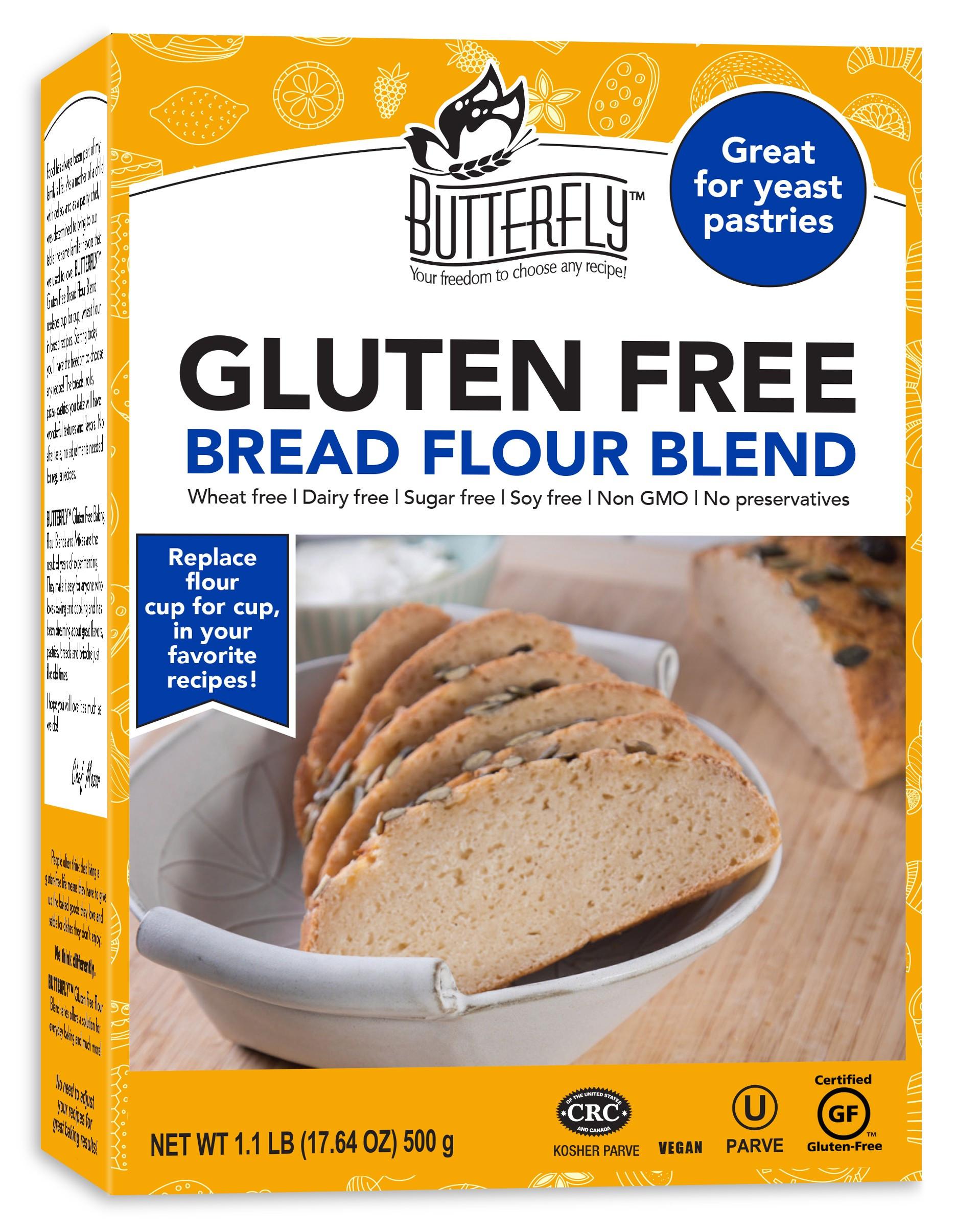 Gluten Free Bread Flour  Butterfly™ Gluten Free Bread Flour Blend 1 lb
