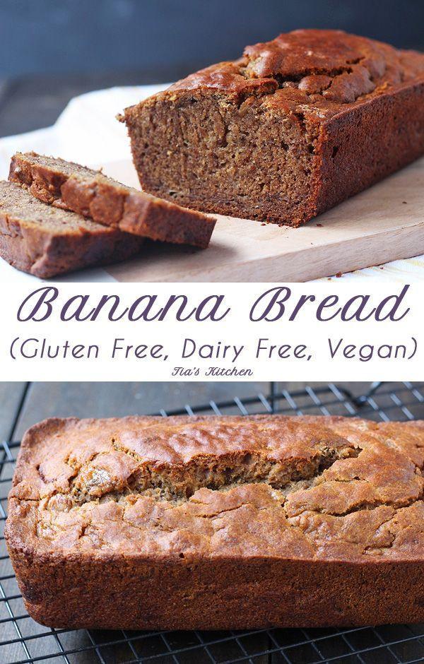 Gluten Free Dairy Free Banana Bread  Gluten Free Banana Bread Dairy Free and Vegan
