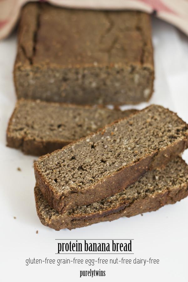 Gluten Free Dairy Free Banana Bread  protein banana bread gluten grain nut dairy and egg free