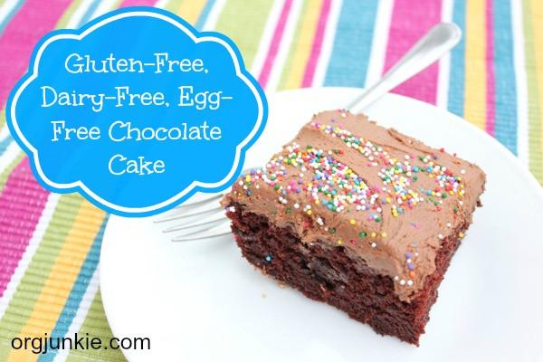 Gluten Free Dairy Free Chocolate Cake  Gluten Dairy & Egg Free Chocolate Cake Frosting Recipe