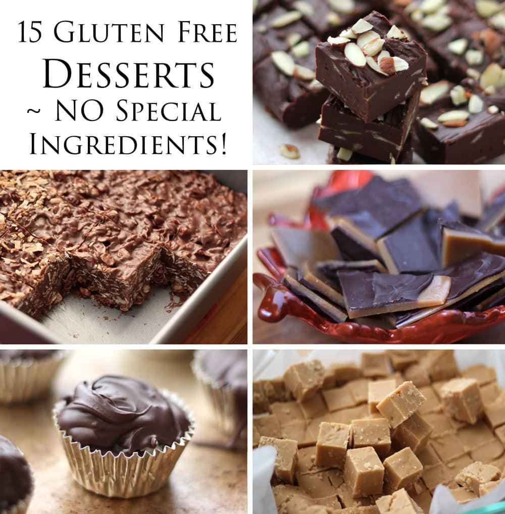 Gluten Free Dessert Ideas  15 Delicious Gluten Free Desserts NO special ingre nts