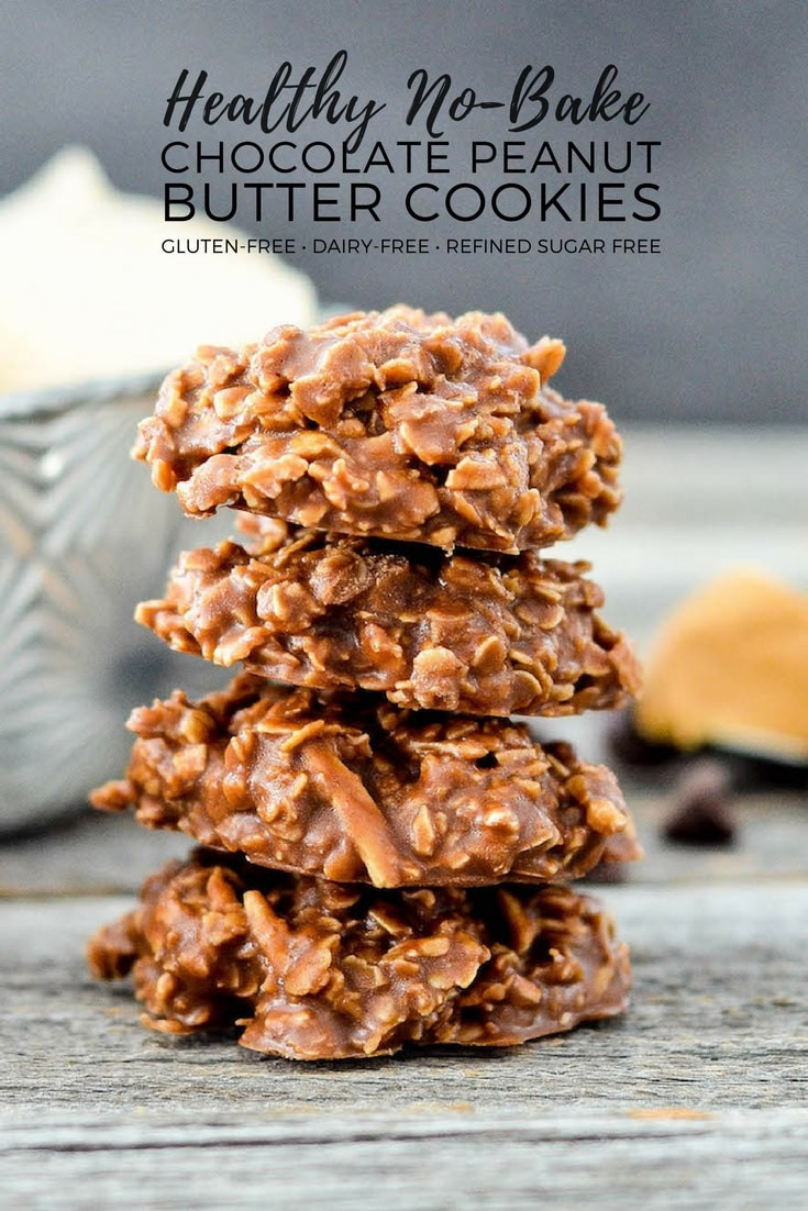 Gluten Free Dessert Recipes With Normal Ingredients  Healthy No Bake Chocolate Peanut Butter Cookies
