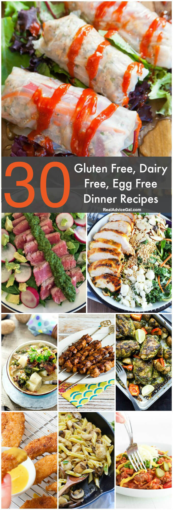 Gluten Free Dinners  Gluten Free Dairy Free Egg Free Recipes Madame Deals