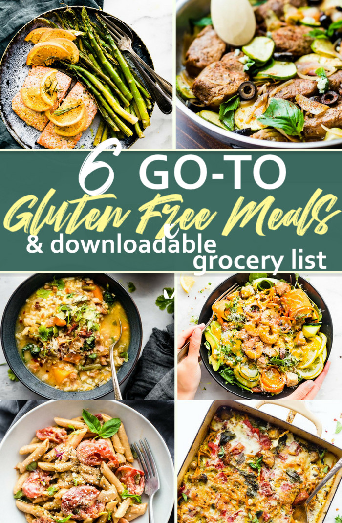 Gluten Free Dinners  6 Go To Gluten Free Meals and Grocery Shopping List
