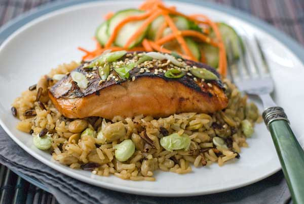 Gluten Free Dinners  Gluten Free Asian Glazed Salmon with Edamame Rice Recipes