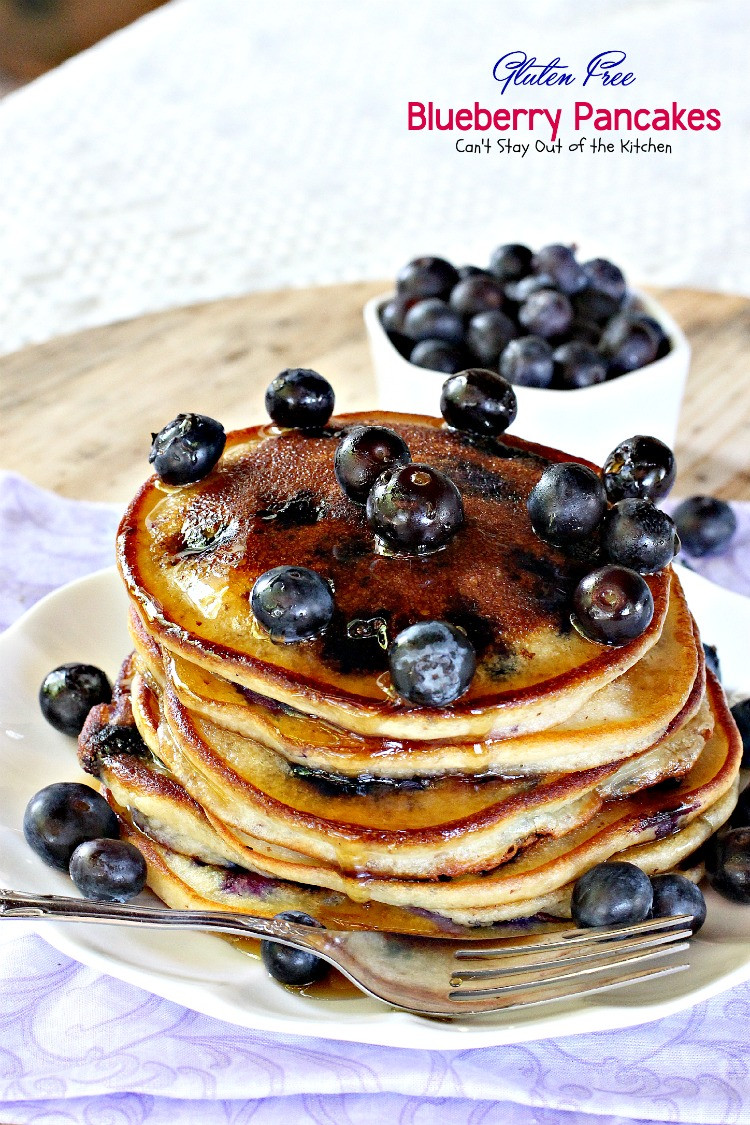 Gluten Free Pancakes  Gluten Free Blueberry Pancakes Can t Stay Out of the Kitchen