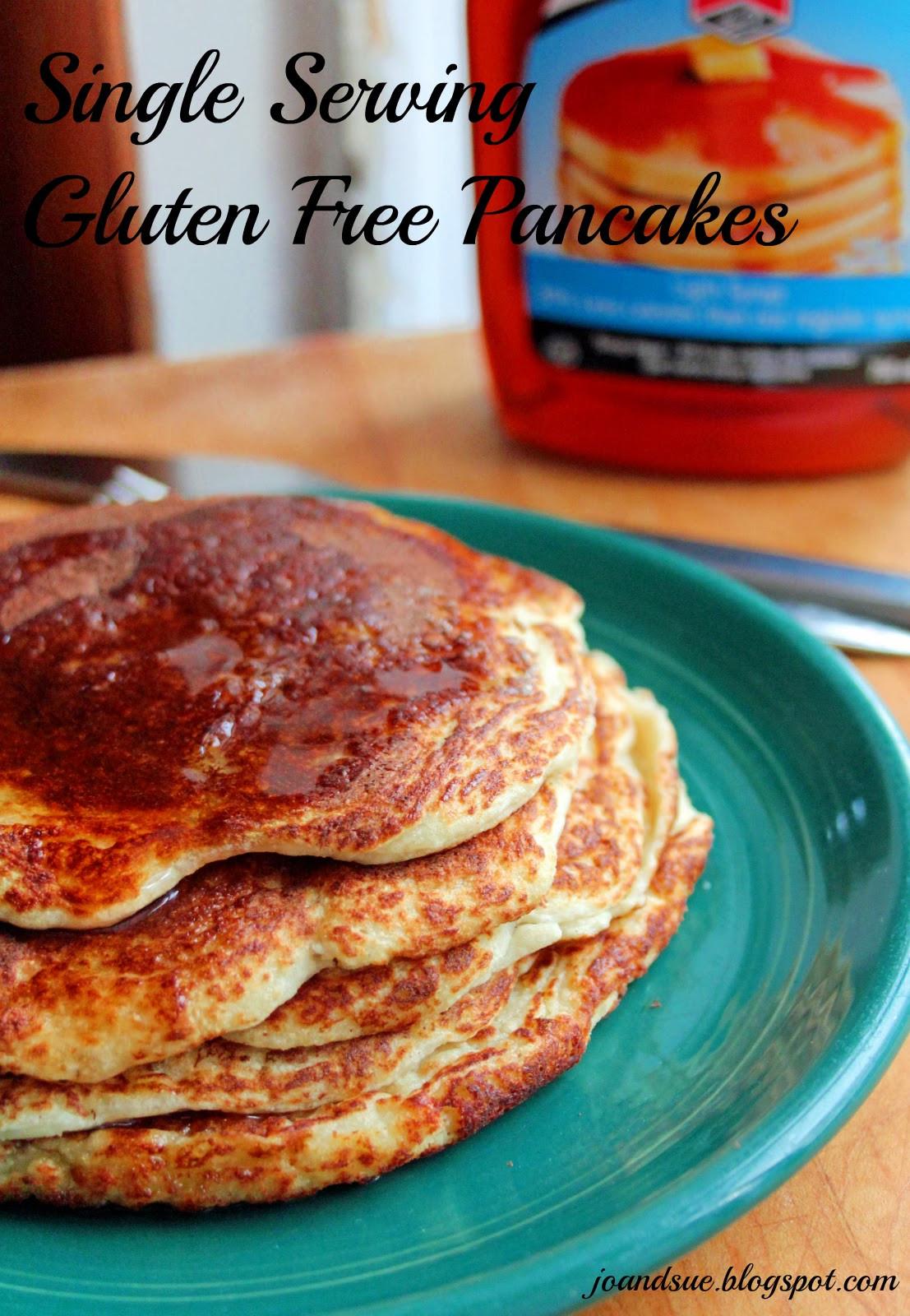 Gluten Free Pancakes  Jo and Sue Single Serving Gluten Free Pancakes