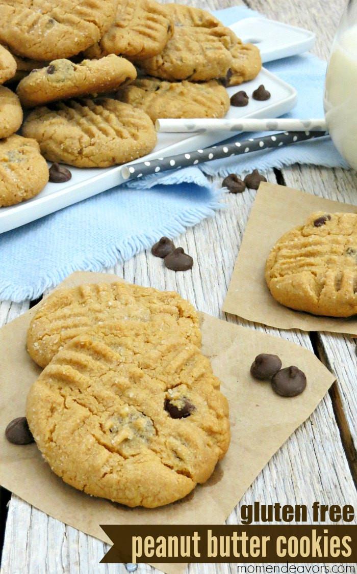 Gluten Free Peanut Butter Cookies  Flourless Peanut Butter Chocolate Chip Cookies