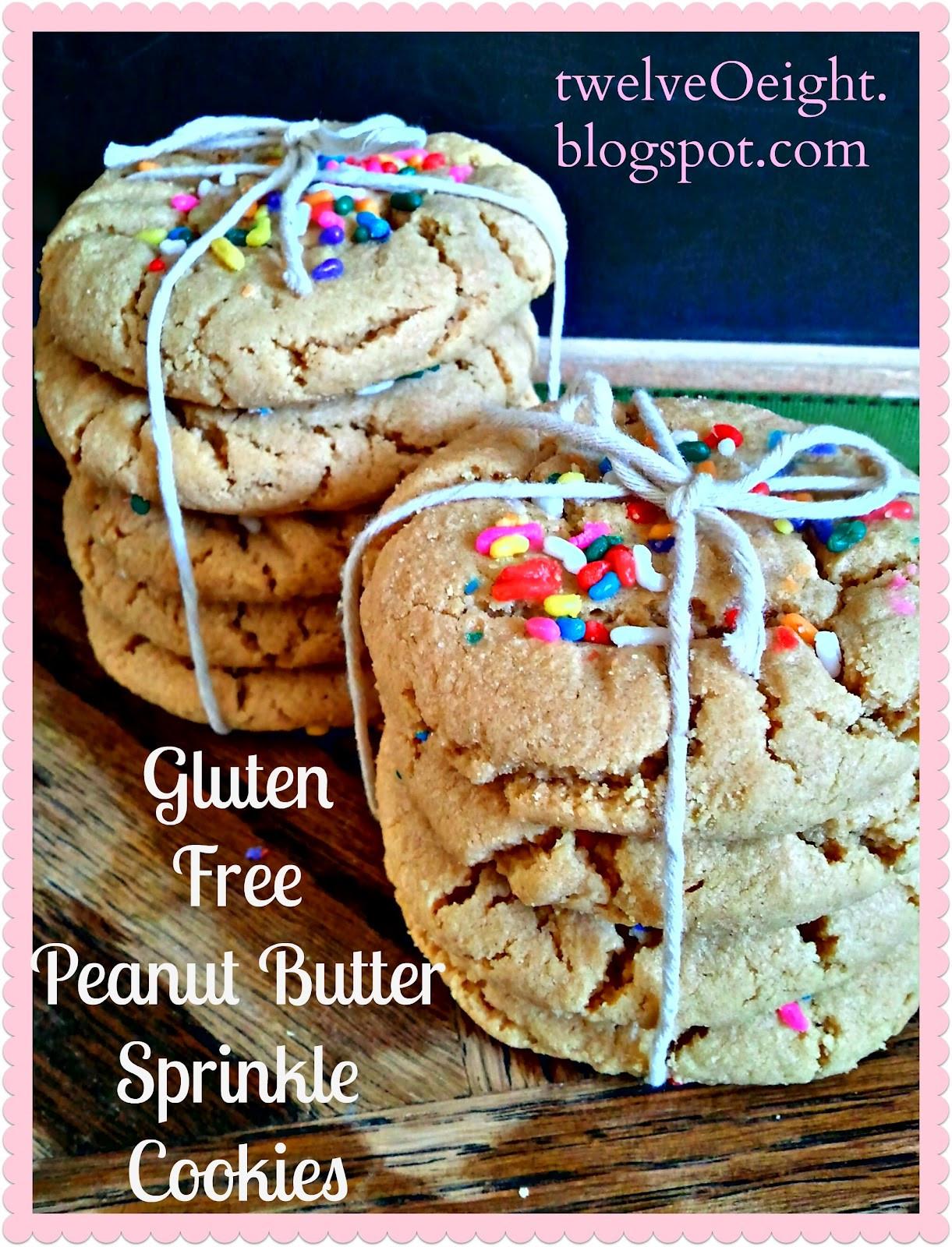 Gluten Free Peanut Butter Cookies  Gluten Free Peanut Butter Sprinkle Cookies