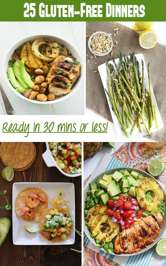 Gluten Free Recipes For Dinner  25 Gluten Free Dinner Recipes in Under 30 Minutes The