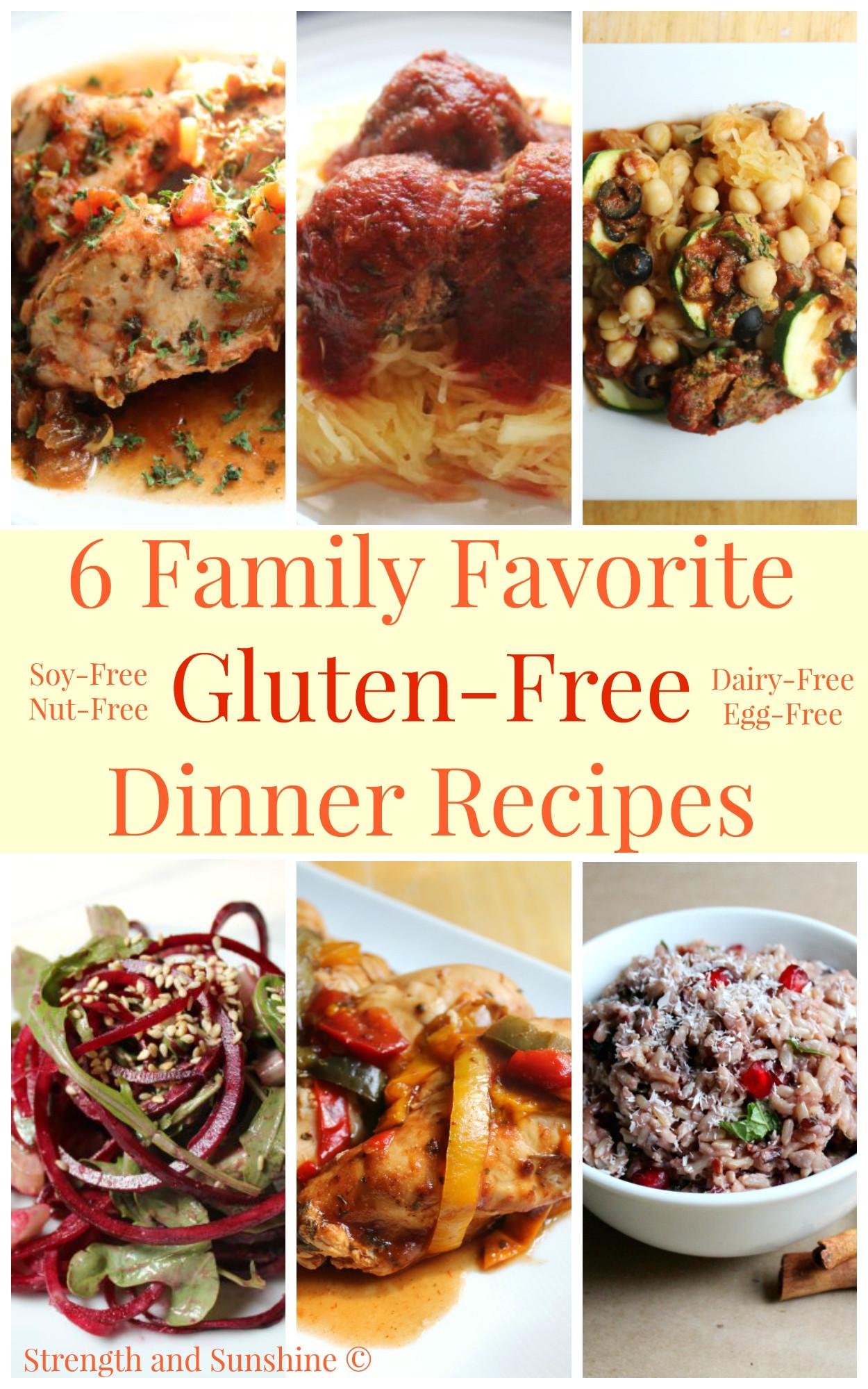 Gluten Free Recipes For Dinner  6 Family Favorite Gluten Free Dinner Recipes