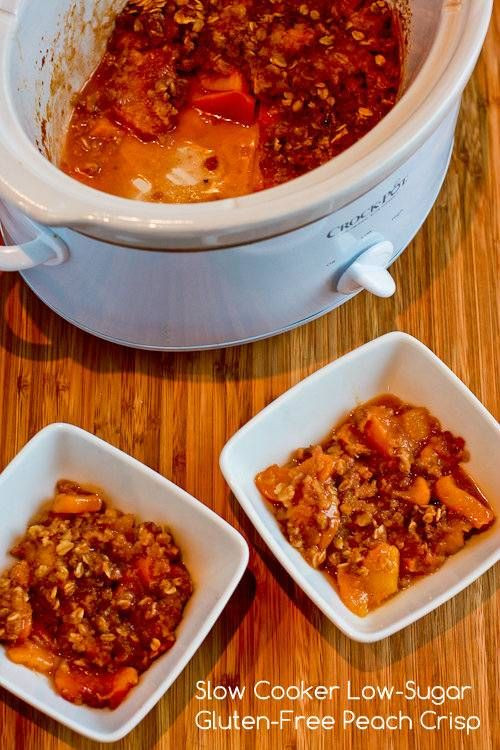Gluten Free Slow Cooker Recipes  Low Sugar and Gluten Free Slow Cooker Peach Crisp