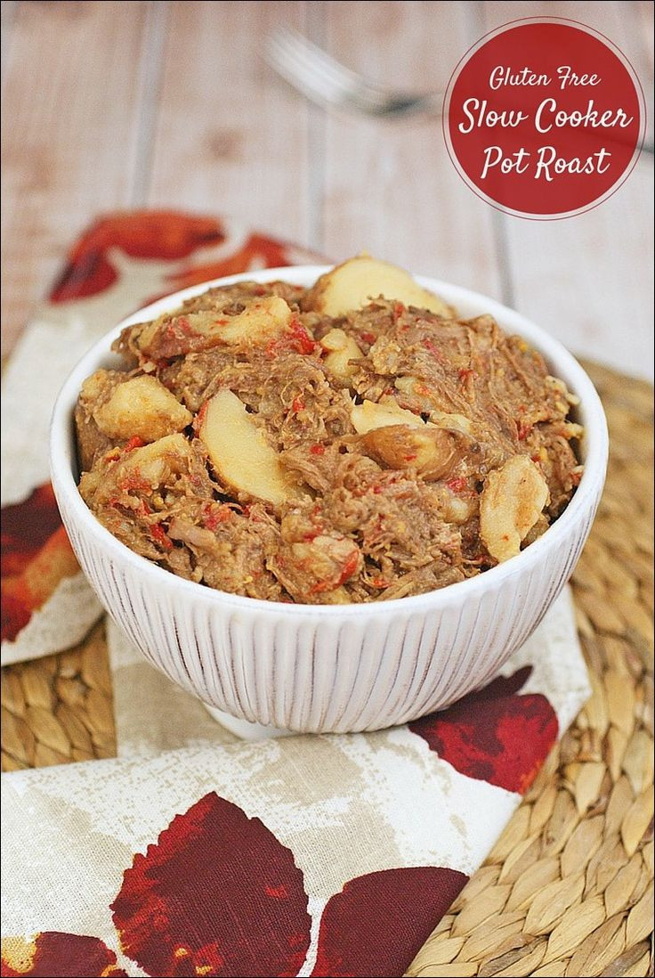 Gluten Free Slow Cooker Recipes  Check out Gluten Free Slow Cooker Pot Roast It s so easy