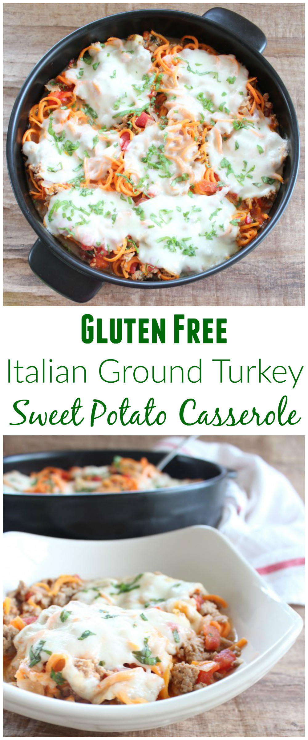 Gluten Free Sweet Potato Casserole  Gluten Free Italian Turkey Sweet Potato Casserole