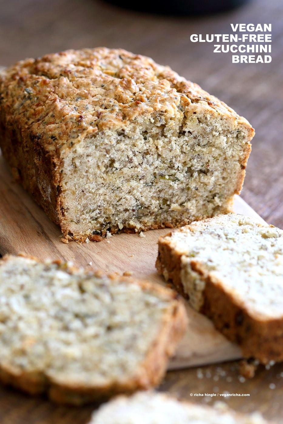 Gluten Free Vegan Bread Recipe  Vegan Gluten free Zucchini Bread Recipe Vegan Richa