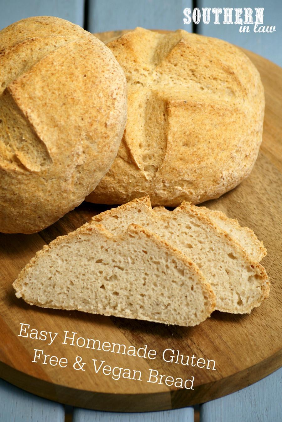 Gluten Free Vegan Bread Recipe  Southern In Law Recipe Easy Homemade Gluten Free and