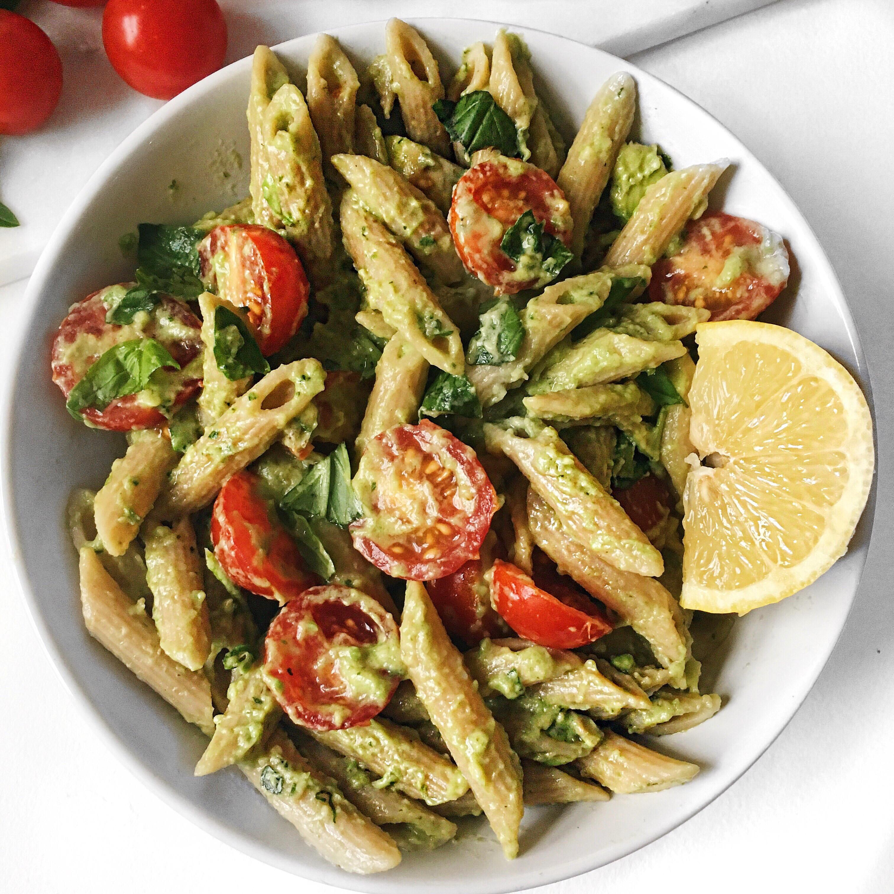 Gluten Free Vegan Recipes  Quick and Easy Basil Avocado Pasta
