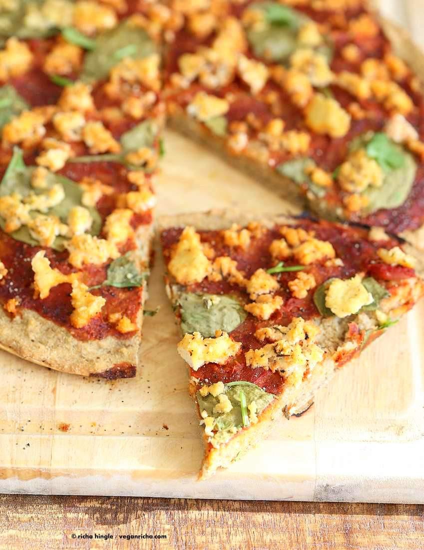 Gluten Free Vegan Recipes  Gluten free Yeast free Vegan Pizza Crust Recipe Vegan Richa