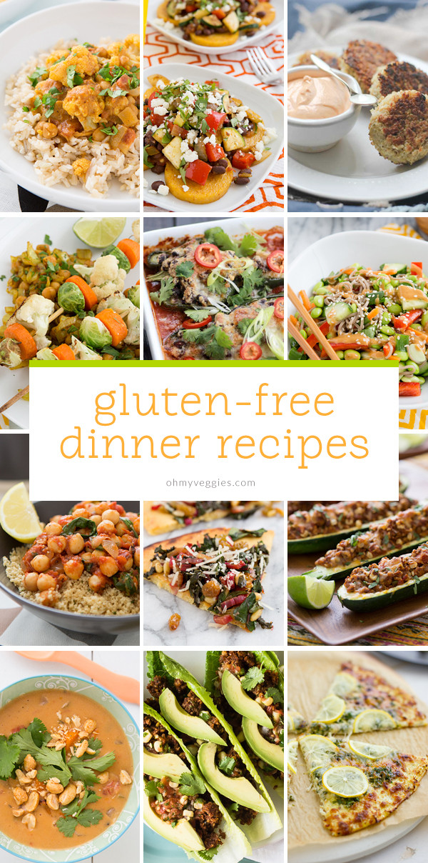 Gluten Free Vegetarian Recipes  Ve arian & Gluten Free Dinner Ideas Oh My Veggies