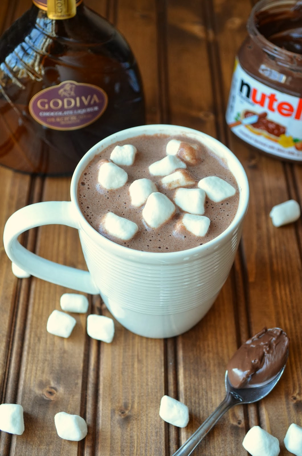 Godiva Hot Chocolate  The Savvy Kitchen Spiked Godiva Nutella Hot Chocolate