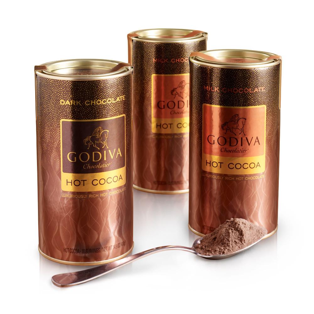Godiva Hot Chocolate  Hot Cocoa Set of 3