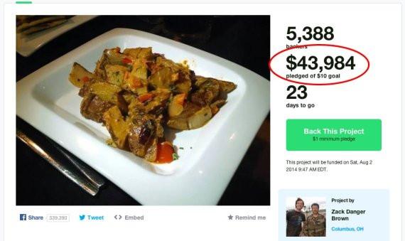 Gofundme Potato Salad  Potato Salad Kickstarter Raises $70K in e Week Loses