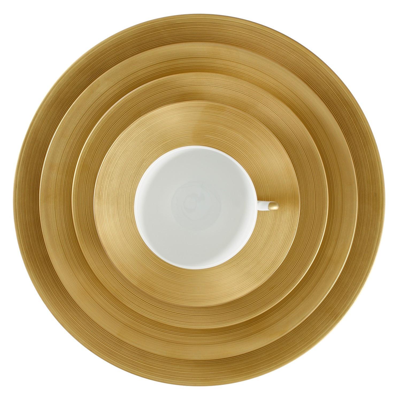 Gold Dinner Ware  GOLD HEMISPHERE DINNERWARE Huzza