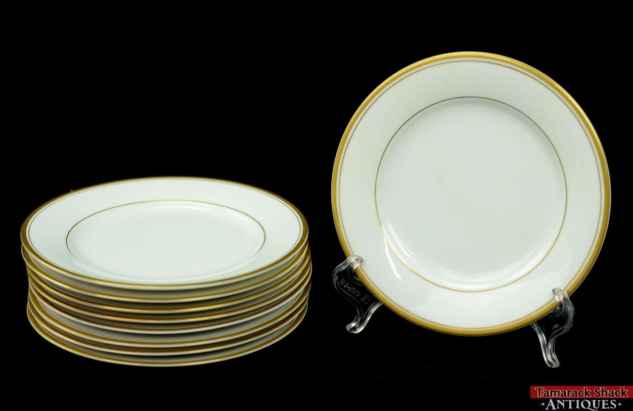 Gold Dinner Ware  52 White Dinnerware With Gold Trim Antique Haviland