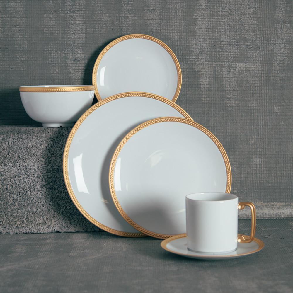 Gold Dinner Ware  Soie Tressée Gold Dinnerware Relish Decor