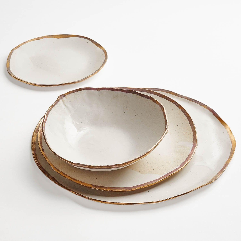 Gold Dinner Ware  Jan Burtz Porcelain Dinnerware Gold Luster