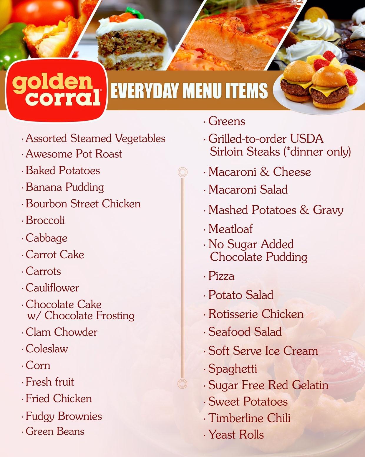 Golden Corral Dinner Hours  Golden Corral Breakfast Menu