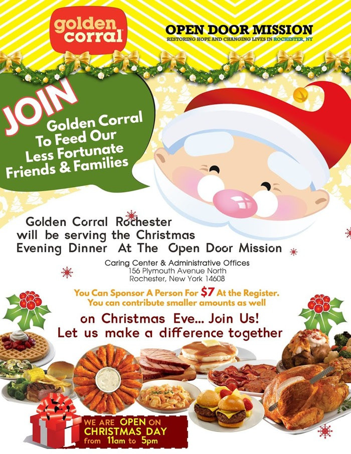 Golden Corral Dinner Menu  Golden Corral Open Christmas