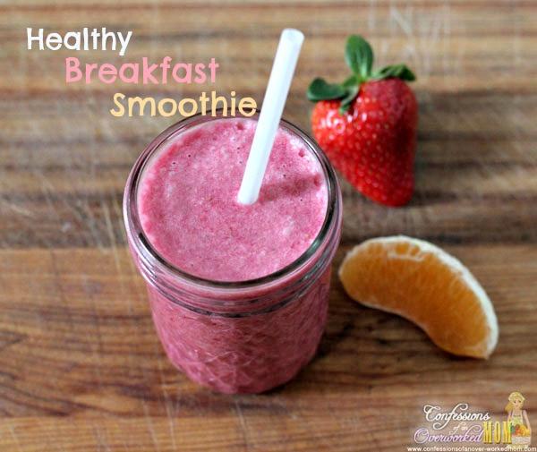 Good Breakfast Smoothies  Healthy Breakfast Smoothie Recipe