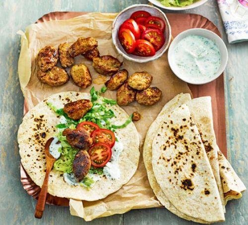 Good Dinner Ideas  Indian koftas with mint yogurt & flatbreads recipe