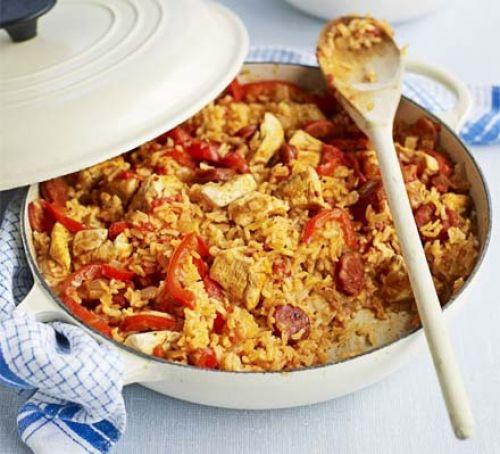 Good Dinner Ideas  Chicken & chorizo jambalaya recipe