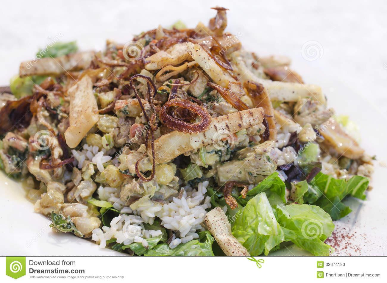 Gourmet Chicken Salad  Gourmet Chicken Salad Stock Image