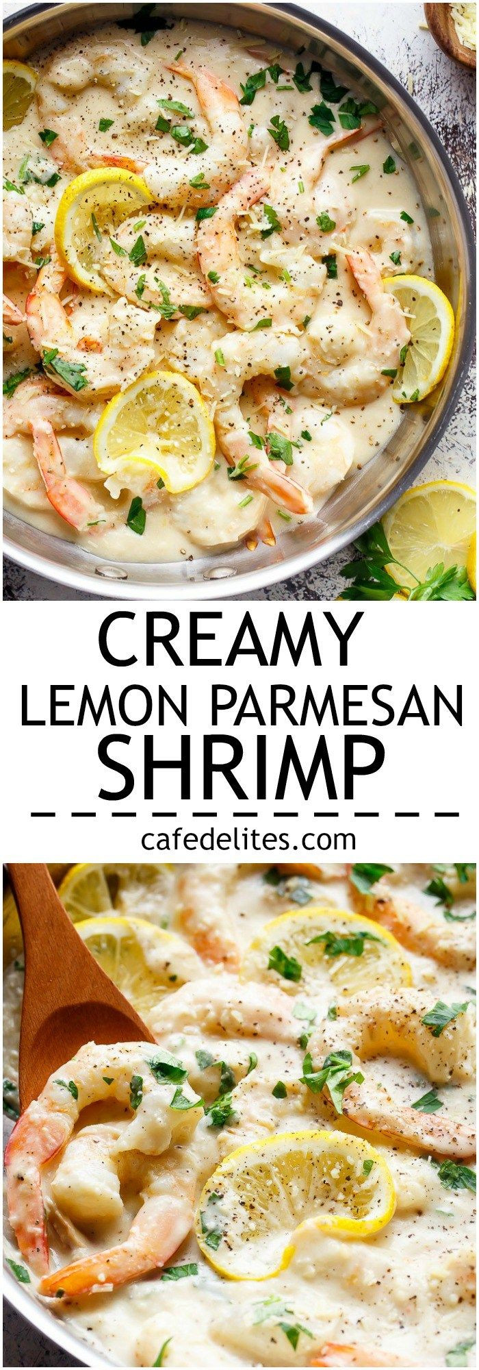 Gourmet Dinner Recipes  Creamy Lemon Parmesan Shrimp is a restaurant quality