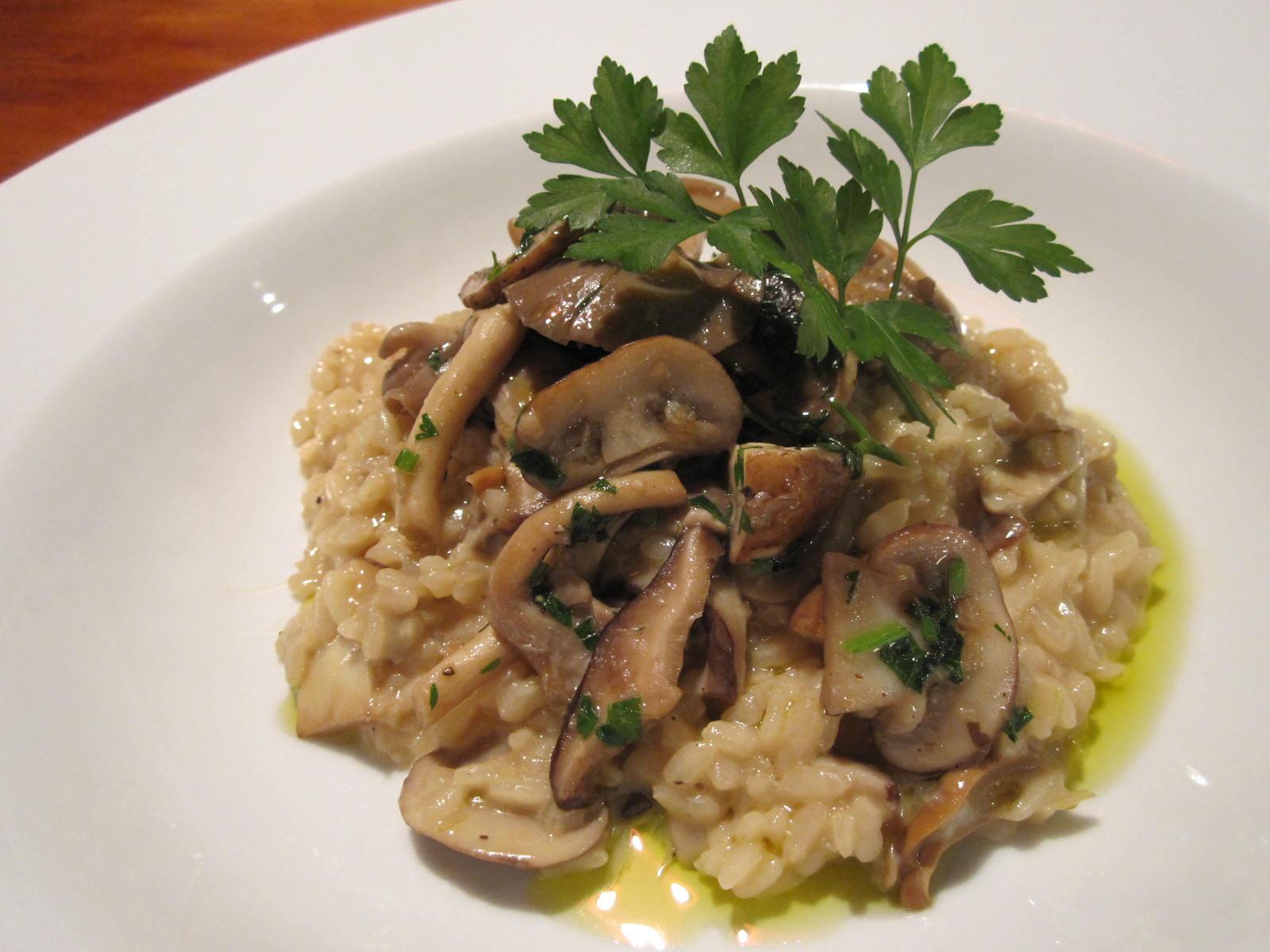 Gourmet Mushroom Risotto  RICE