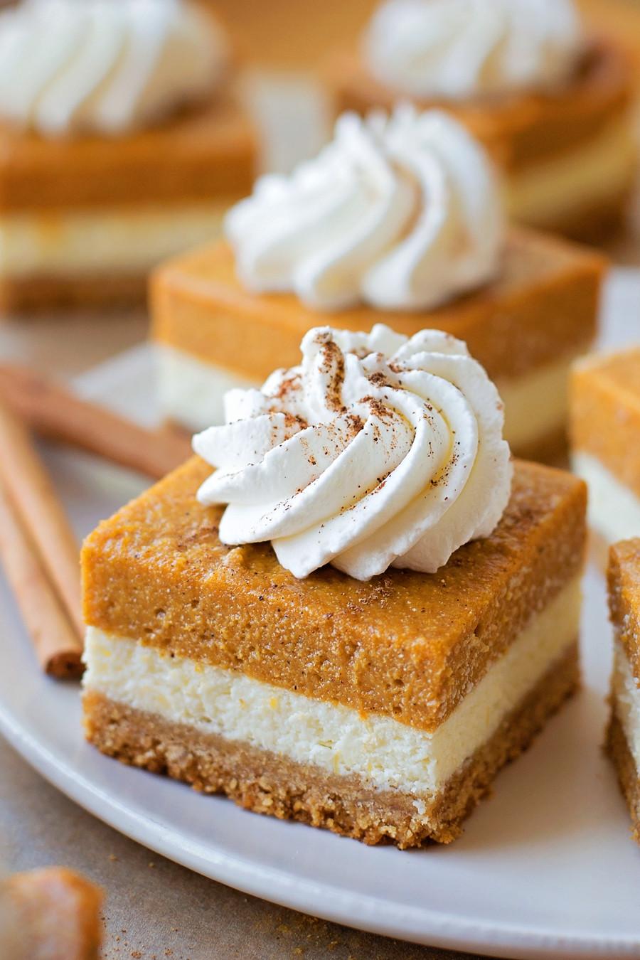 Graham Cracker Crust Pumpkin Pie  Pumpkin Pie Cheesecake Bars Lil Luna