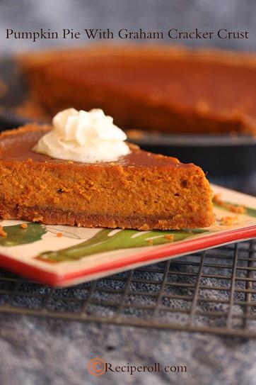 Graham Cracker Crust Pumpkin Pie  Easy Pumpkin Pie With Graham cracker Crust